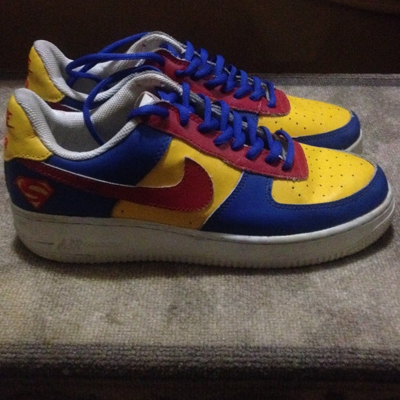 Nike men's Custom superman Air Force 1 sneakers