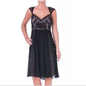 Sue Wong Dresses & Skirts - SUE WONG Black & Pink Chiffon Dress ~ NWT