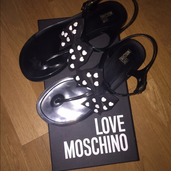 Moschino Heart Flat Sandals dqBIh