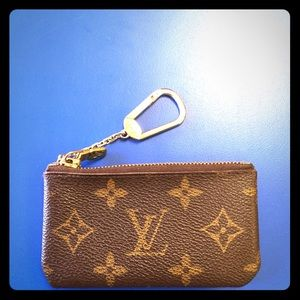 AUTHENTIC LV Monogram Key Cles Coin Pouch