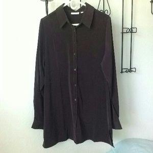 Susan Graver button down blouse