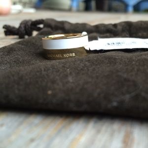 d1a521ffc01 Michael Kors Jewelry - NWT Michael Kors gold and white band ring
