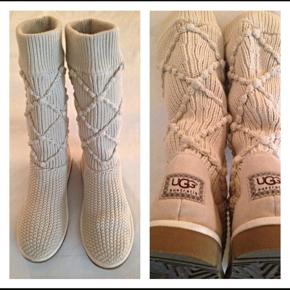 Ugg Shoes Australia Knit Crochet Boots 5879 Size 9 Poshmark