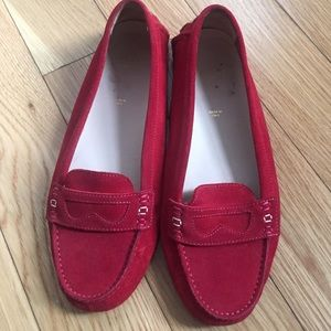 Bally Shoes - bally red leather flats