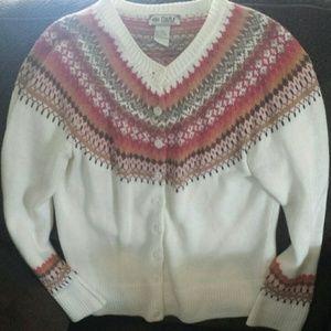 Tiara  Sweaters - NWOT Tiara Knit Sweater. Off White. Collar Design.