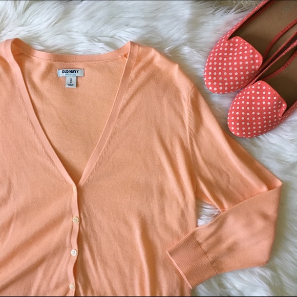 60% off Old Navy Sweaters - [old navy] light orange cardigan from ...
