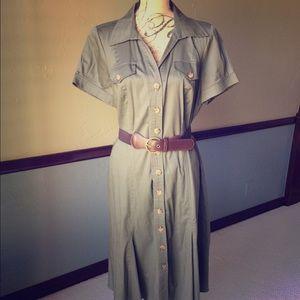 Dresses & Skirts - Olive shirt dress🍂🍁