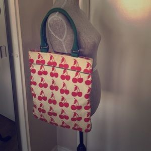 Luella for Target Cherry canvas tote bag