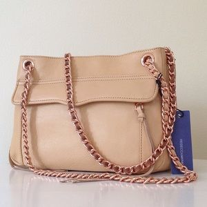 REBECCA MINKOFF SWING BAG IN BISCUIT