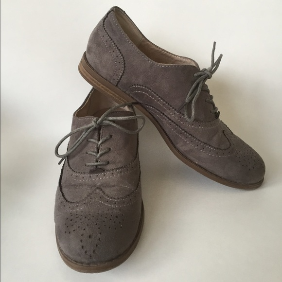 60 merona shoes hp gray suede oxfords 7 from