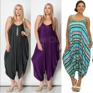 Boutique Pants - Plus size Romper harem palazzo pants jumpsuit Boho