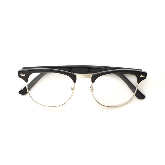 72% off Accessories - Browline Half Frame Clear Lens ...