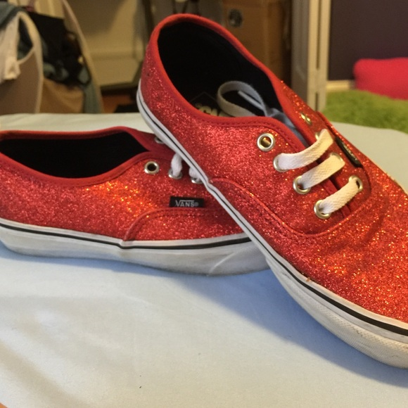 Red glitter vans. M 55ea0184c6c79551bd0073b6 39bd81f19
