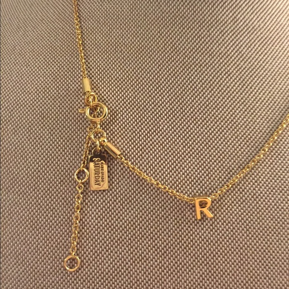 kate spade saturday initial r necklace in gold
