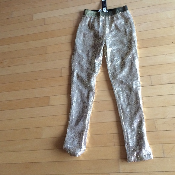 GOLD SEQUINED YOGA PANTS From Phyllis's Closet