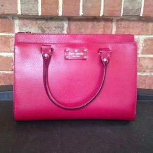 Kate Spade Durham Wellesley Red Plum Handbag