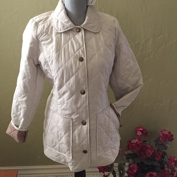 a8268ad1c0 J. Jill heritage quilted jacket ivory