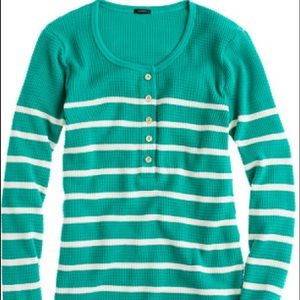 J Crew striped thermal Henley