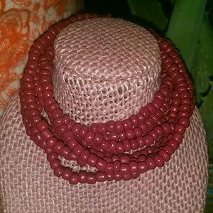 Stylish seed bead bracelet set.