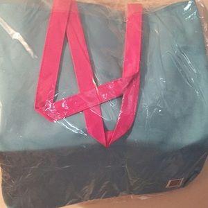 Handbags - NIB Aqua & Pink Tote Bag
