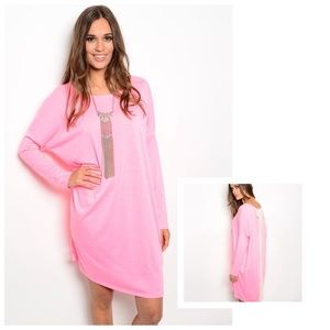 Oversized Tee Dress with Back Bow