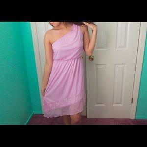 Dresses & Skirts - Asymmetrical Lilac Dress