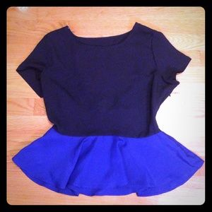 Rory Beca x Forever 21 peplum top. Worn once $15/L
