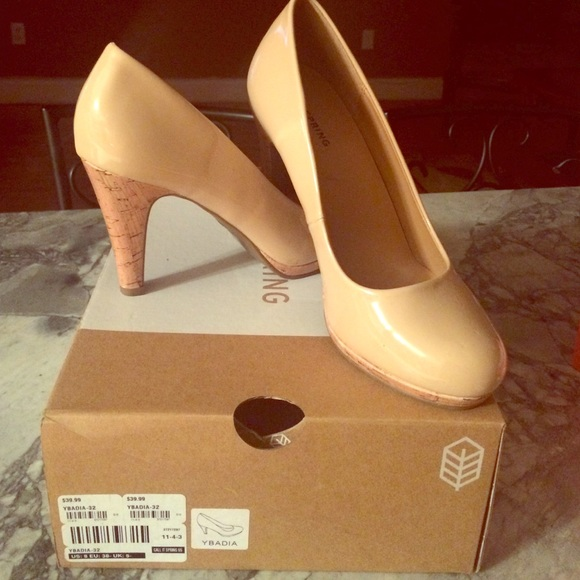 589f91b8176 Call it spring , mid-heel, nude color, size:8