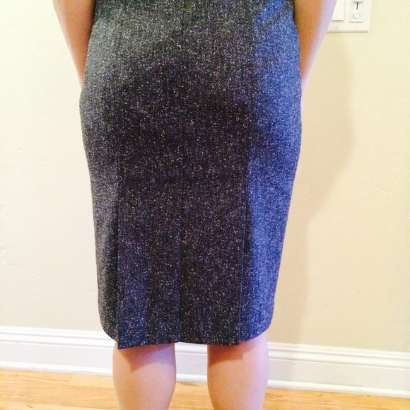 82 new york company dresses skirts tweed grey