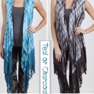 tla2 Other - TIE DYE LONGER FRINGE VEST