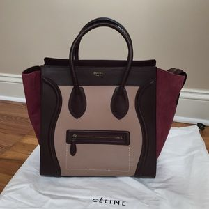Authentic Celine luggage tote in calfskin