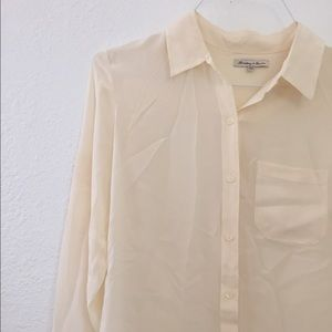 ddcb049d0efe3 Madewell Tops - Madewell Broadway and Bloom cream silk blouse
