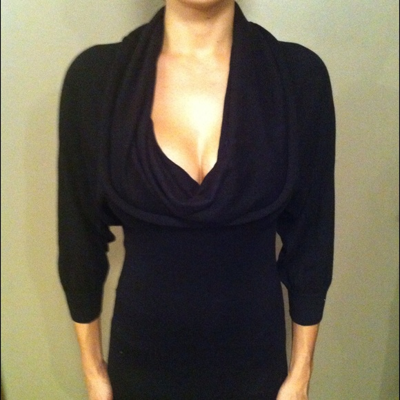 70% off bebe Dresses & Skirts - 💋Bebe Cowl Neck Sweater Dress ...