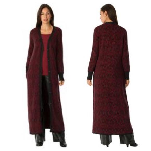 31% off Jessica London Sweaters - Jacquard Cardigan Duster plus ...