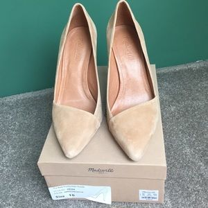 Madewell The New Pointy Heel-Suede