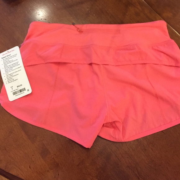 lululemon athletica Shorts - Lululemon 6 - pink speed shorts NWT