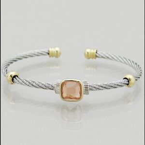 Jewelry - Stone Cable Bracelet