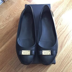 Marc by Marc Jacobs Shoes - Marc Jacobs Black Leather Bow Flats