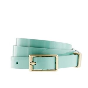 J.Crew Teal- blue - turquoise -Patent Leather Belt