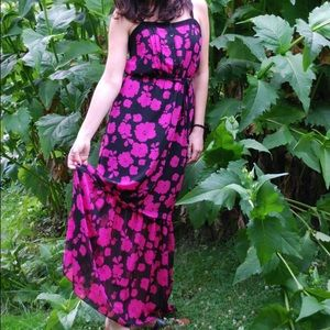 Kensie hot pink floral maxi dress.