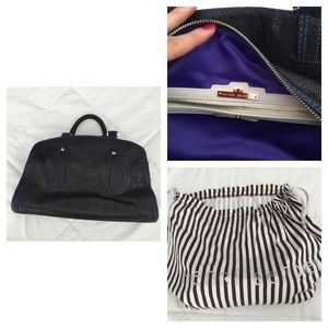 Henri Bendel black leather purse