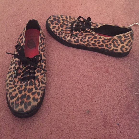vans leopard print womens