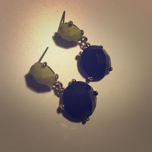 Dark Green and Lime earrings