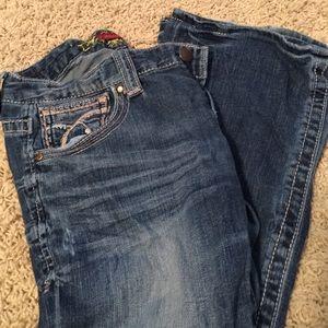Barley worn jeans