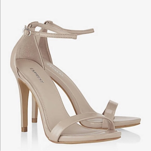 53% off Express Shoes - Express nude strappy heels from ...