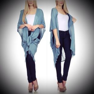Sweaters - Sleeveless Open Front Cardigan Vest