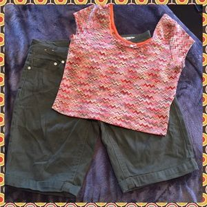 Dots Tops - Like new crop top.