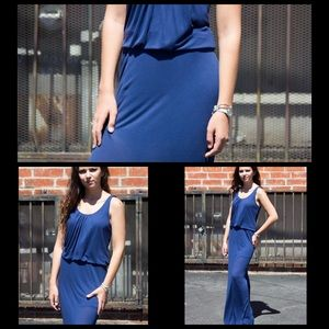 Bella Luxx Dresses & Skirts - Bella Luxx Silk Maxi Dress in Navy