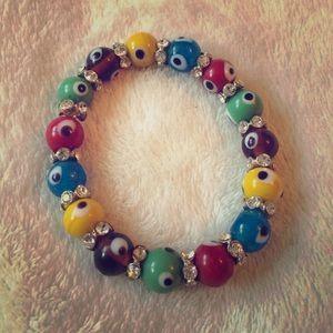 • evil eye // stretch bracelet •