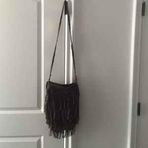 Crossbody Suede Fringe Bag Urban Outfitters